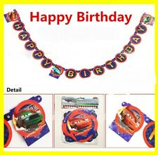Cars Lightning McQueen Happy Birthday Banner Party Decoration Supplies