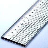 60cm Acrílico Regla con Acero Corte Borde Jakar Metal Lado Corte 5mm Cuadrados
