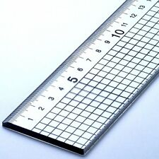 60cm Acrylic Rule Ruler With Steel Cutting Edge Jakar Metal Side Cut 5mm Squares