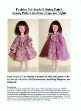 Sewing Pattern for Sindy's Sister, Patch, includes Dress, Tights and Cape.