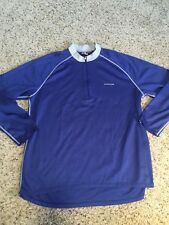 Mens SUGOI Bike Cycling Jersey Shirt Long Sleeve XL Blue Kd6