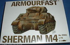 ARMOURFAST 99001: Sherman M4 1/72 Scale Plastic Kit