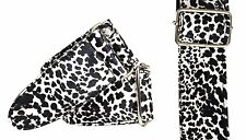 2532 Black & White fake LEOPARD GUITAR STRAP like 3d fabric texture classy chic