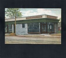 1909 early postcard First National Bank Roselle NEW JERSEY Union County DPO