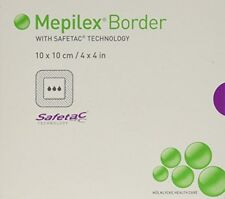 10 X MEPILEX BORDER DRESSINGS  17CM X 20CM  NEW AND SEALED