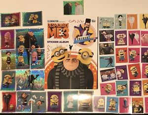 DESPICABLE ME 3 THE MINIONS Full Set Of 180x Loose Topps Stickers & Empty Album