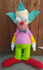 """The Simpsons Krusty the Clown Plush Doll Giant 40"""" Toy Factory Bow Tie"""