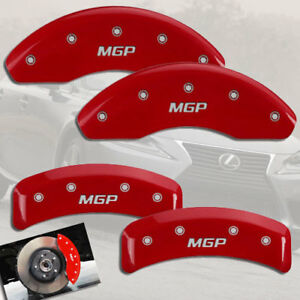 "2002-2003 Lexus ES300 Front + Rear Red ""MGP"" Brake Disc Caliper Covers 4pc Set"