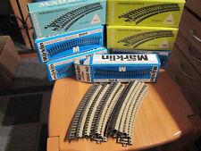 Märklin Schienen - 10 Stück 5100 1/1 gebogene Gleise Spur H0 OVP