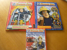 Fireman Sam Annuals 2011 & 2012- Hard cover & The Big Freeze DVD