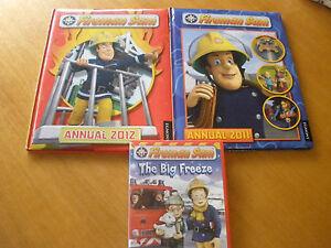 Fireman Sam Annuals 2011 & 2012- Hard cover & The Big Freeze DVD