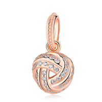 Rose Gold Love Knot Charm 100% 925 Sterling Silver Pandora