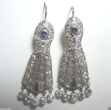 Antique Art Deco Vintage Diamond Earrings Platinum EGL USA Fine Jewelry Estate