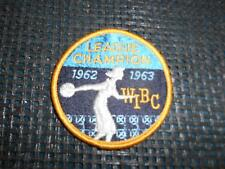 Old Vtg Women's Bowling Embroidered Patch WIBC League Champion 1962-1963 Badge