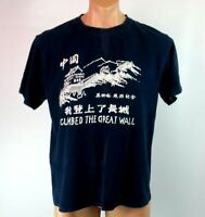 deb6ab303 VTG 90s I Climbed The Great Wall of China T Shirt XXL Tourist Vacation Blue