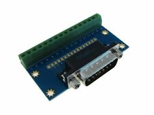 HQ DB15 Male Signals Breakout Board Parallel Port Header Screw terminals