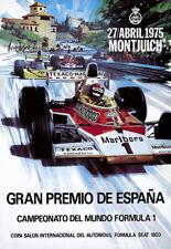 F1 Gran Premio de España Grand Prix 1975 Auto Automobile Car Race  Poster Print