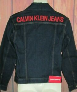 MENS CALVIN KLEIN JEANS DENIM JACKET SIZE S