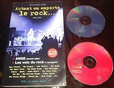 JOHNNY HALLYDAY ANGE + DIVERS DANS RARE LIVRE + 2 CD AUTANT EN EMPORTE LE ROCK
