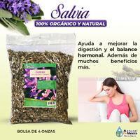 Salvia Sage Leaf hierba tea Salbia para la digestion y balance hormonal 4 onzas