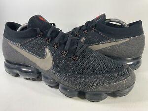 NikeLab Air Vapormax Flyknit Dark Mushroom Crimson Black Mens Size 10.5 Rare