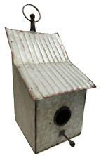 Rustic Industrial Galvanized Slope Roof Style Metal Birdhouse Bird House