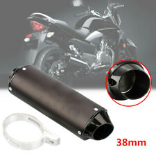 38mm ATV Offroad Motorcycle Exhaust Pipe Muffler Silencer Slip On Killer + Clip