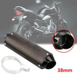 38mm ATV Offroad Motorcycle Exhaust Pipe Muffler Silencer Slip On Killer + Clip