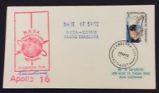 1972 Apollo 16 signed cover with canberra city cancel