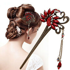 Hot Sale Shiny Alloy Rhinestone Peacock Hairpin Hair Stick Lady Women Jewelries
