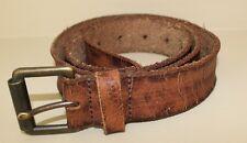J Crew Men's Distressed Leather Roller Buckle Belt Size 36 $52 EUC England
