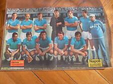 SSC NAPOLI 1967/68 POSTER IL PALLONE D'ORO BIANCHI ORLANDO NARDIN ZOFF STENTI..
