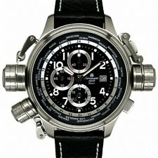 German XXL WORLDTOUR ALARM Precision Chronograph Aeromatic 1912 A1328