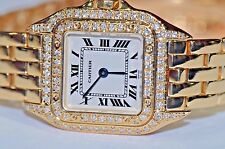 Womens Cartier Panther 18K Solid Gold Diamonds Everywhere