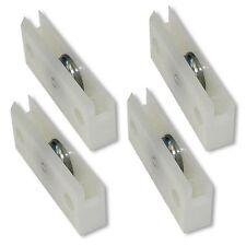 4x Laufrolle für Bodenschiene Möbeltür Möbel Rolle Türrolle