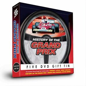 History Of The Grand Prix Five DVD Gift Tin, New & Sealed - XMAS PRESENT GIFT