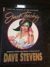 Dave Stevens 'Just Teasing' oversize poster book and hard cover graphic novel.