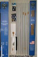 30 Foot Aluminum Flagpole Flag Pole Kit 30'