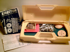 VTG! 1976 GABRIEL ERECTOR SET 445-Pieces Lot with Carrying Case & Guide Sheet GC