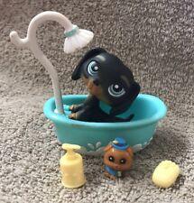 Littlest Pet Shop #325 Black Dachshund Puppy Dog w/ Accessories