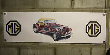 mg td tc ta tf  red large pvc  WORK SHOP BANNER garage man cave SHOW banner