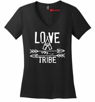 Love My Tribe Ladies V-Neck T Shirt Mother's Day Gift Tee Mom Party Soft Tee Z5