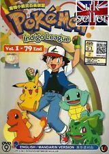 Anime DVD Pokemon Indigo League Complete ENGLISH Series - UK SHIPPING