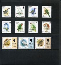 Niue 1993 QEII Birds Official set complete superb MNH. SG O20-O30. Sc O20-O30.