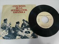 """Canciones de la Guerra Civil Española - 1978 Spain Edition - Single Vinilo 7"""""""