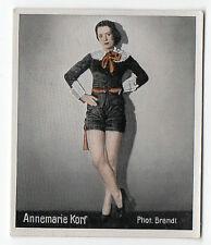 1930s German Artistic Dance Dancers Cigarette Tobacco card #198 Annemarie Korf