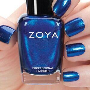 ZOYA ZP808 ESTELLE ~ metallic blue shimmer nail polish ~ FLAIR Fall 2015 *NEW