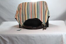 "ROXY ""RUNABOUT"" WOMAN'S MULTI-COLOR STRIPE GRAPHIC LARGE BEACH/TOTE BAG/PURSE"