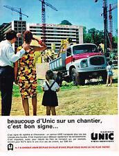 PUBLICITE ADVERTISING 104  1963  UNIC  camions poids- lourds  pour terrassement