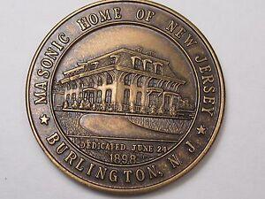 MASONIC TOKEN: 1898 Masonic Home and Charity Foundation of Burlington, NJ. #44
